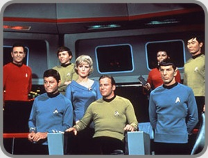 Capt Kirk and his crew