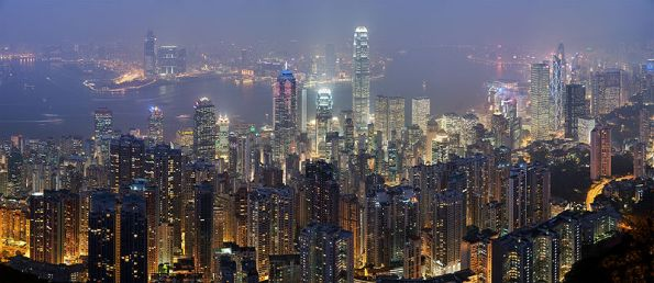Hong Kong Skyline Night View